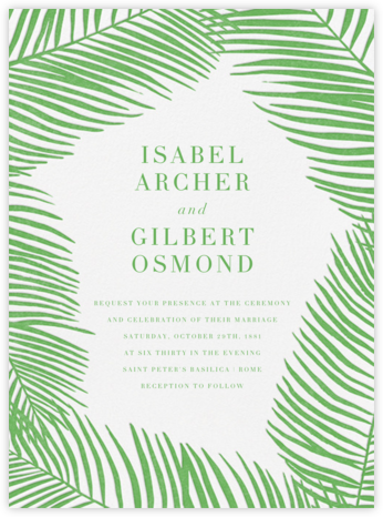 Palmier I - Spring Green - Paperless Post - Wedding invitations