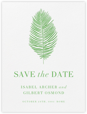 Palmier I (Save the Date) - Spring Green | null