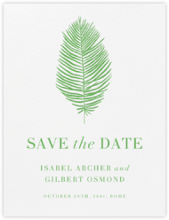 Palmier I (Save the Date) - Spring Green
