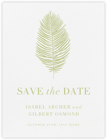Palmier I (Save the Date) - Celery | null