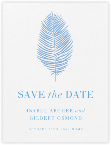 Palmier I (Save the Date) - Newport Blue | null