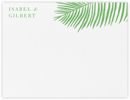 Palmier I (Stationery) - Spring Green | null