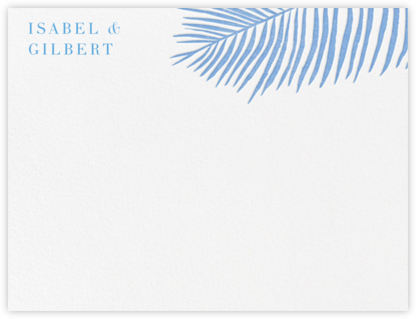 Palmier I (Stationery) - Newport Blue  | null