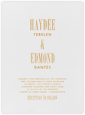 Quai I - Gold - Paperless Post - Classic wedding invitations