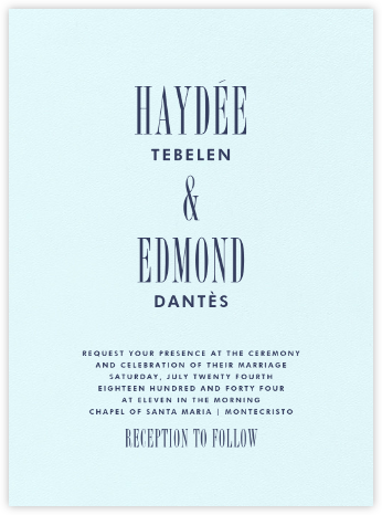 Quai I - Navy - Paperless Post - Modern wedding invitations
