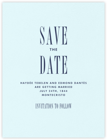 Quai I (Save the Date) - Navy - Paperless Post -