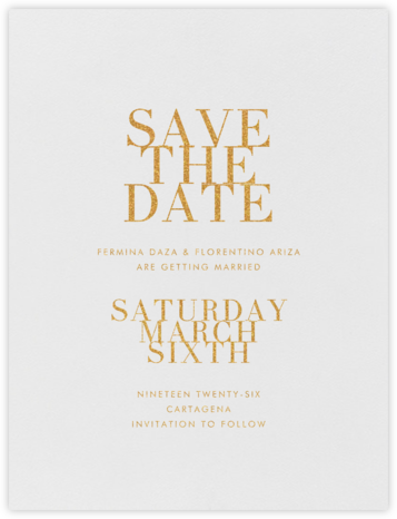 Editorial I (Save the Date) - Gold | null