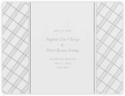 White Tartan (Save the Date) - Platinum - Vera Wang