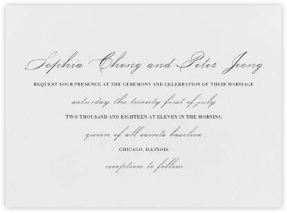 Spindle - Black - Vera Wang - Wedding Invitations