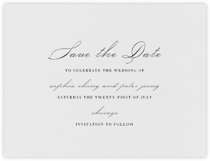 Spindle (Save the Date) - Black - Vera Wang - Save the dates