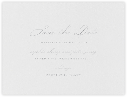 Spindle (Save the Date) - Platinum - Vera Wang - Save the dates