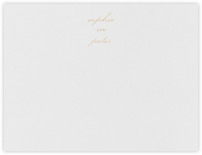 Spindle (Stationery) - Gold - Vera Wang - Personalized Stationery
