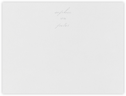 Spindle (Stationery) - Platinum - Vera Wang - Personalized Stationery