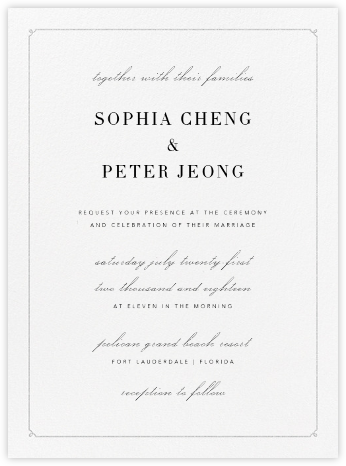 Ledger - Platinum - Vera Wang - Wedding Invitations