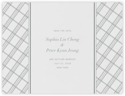 White Tartan (Save the Date) - Pewter Gray - Vera Wang -