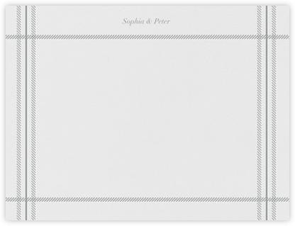 White Tartan (Stationery) - Pewter Gray - Vera Wang -
