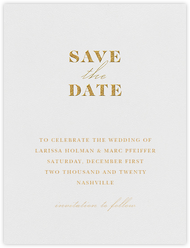 Dyad (Save the Date) - Gold
