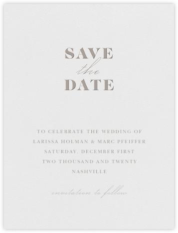 Dyad (Save the Date) - Taupe - Vera Wang - Vera Wang invitations and stationery