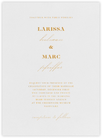 Dyad - Gold - Vera Wang - Modern wedding invitations
