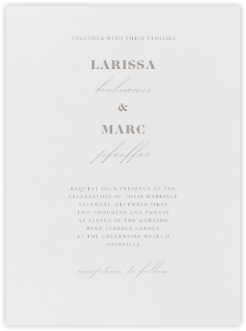 Dyad - Taupe - Vera Wang - Wedding Invitations