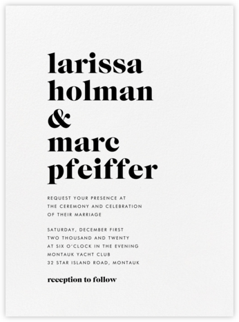 Principle - Black - Vera Wang - Online Wedding Invitations