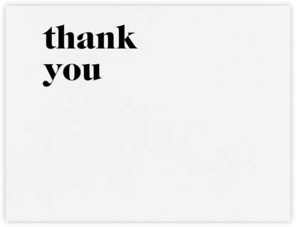 Principle (Stationery) - Black - Vera Wang - Wedding thank you notes