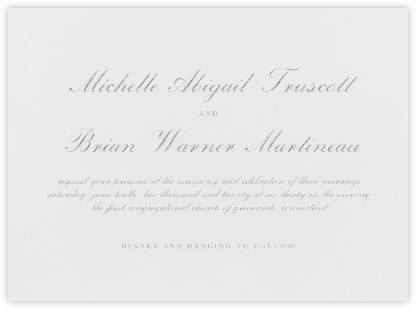 English - Platinum - Vera Wang - Wedding Invitations