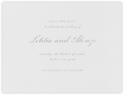 English (Save the Date) - Platinum - Vera Wang - Save the dates