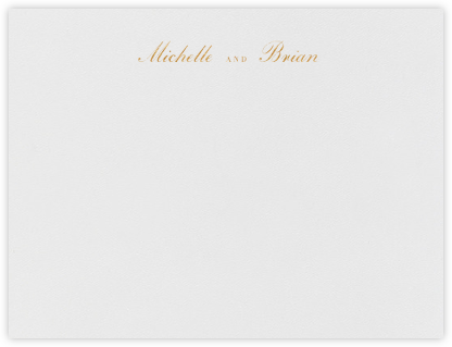English (Stationery) - Gold - Vera Wang - Vera Wang Stationery