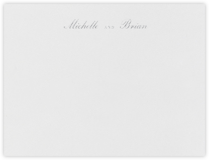 English (Stationery) - Platinum - Vera Wang - Personalized Stationery