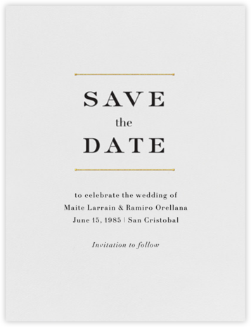 Roman (Save the Date) - Gold - Vera Wang - Save the dates