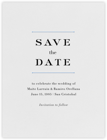 Roman (Save the Date) - Newport Blue - Vera Wang - Save the dates
