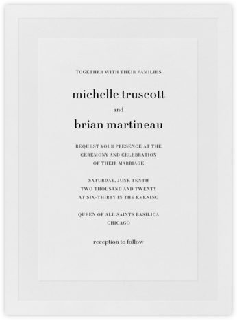 Firth - Black - Vera Wang - Wedding Invitations
