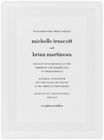Firth - Black - Vera Wang - Vera Wang Invitations