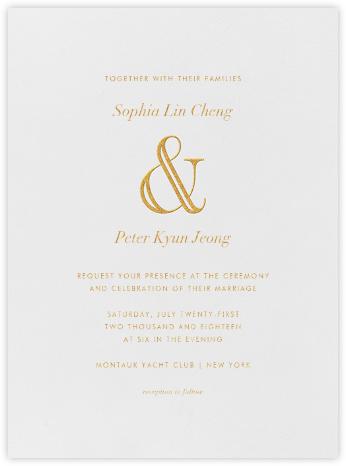 Strake - Gold - Vera Wang - Wedding Invitations