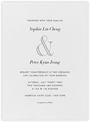 Strake - Platinum - Vera Wang - Wedding Invitations