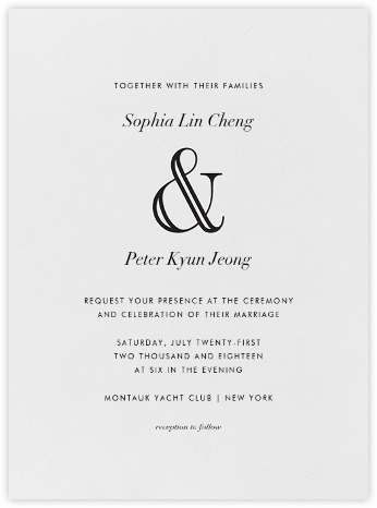 Strake - Black - Vera Wang - Wedding Invitations