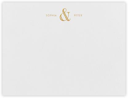 Strake (Stationery) - Gold - Vera Wang - Personalized Stationery