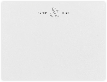 Strake (Stationery) - Platinum - Vera Wang - Personalized Stationery