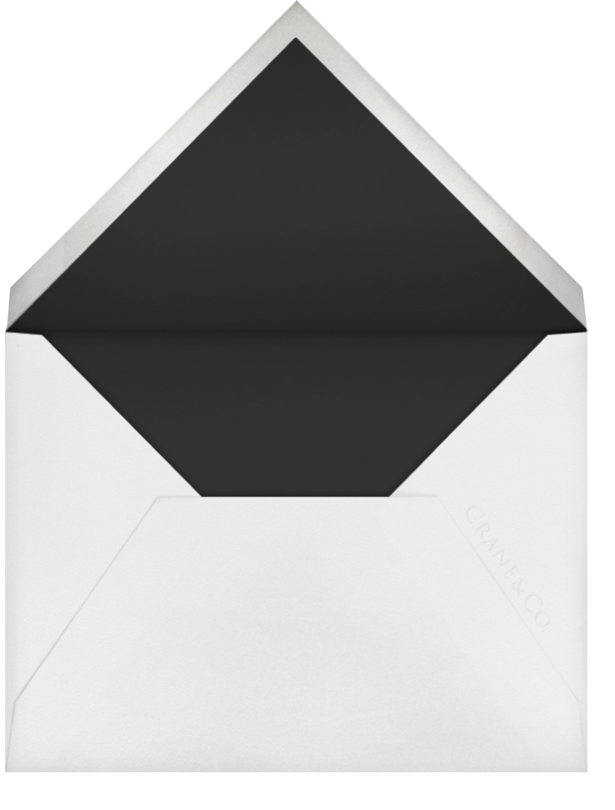 Strake (Stationery) - Black - Vera Wang - Personalized stationery - envelope back