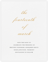 Ligature (Save the Date) - Gold