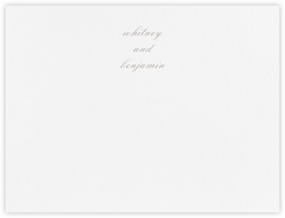 Ligature (Stationery) - Taupe - Vera Wang - Personalized Stationery