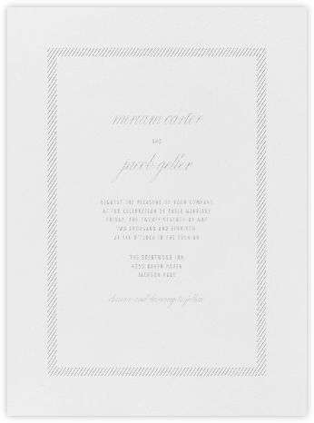 Singer - Platinum - Vera Wang - Wedding Invitations