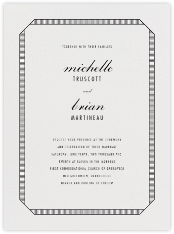 Grosgrain - Black - Vera Wang - Wedding Invitations