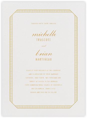 Grosgrain - Gold - Vera Wang - Wedding Invitations