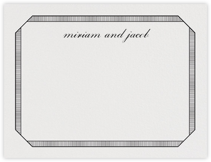 Grosgrain (Stationery) - Black - Vera Wang -