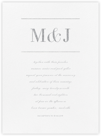 Monogram - Platinum - Vera Wang - Wedding Invitations