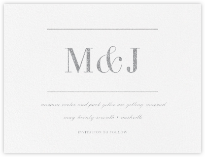 Monogram (Save the Date) - Platinum - Vera Wang - Save the dates