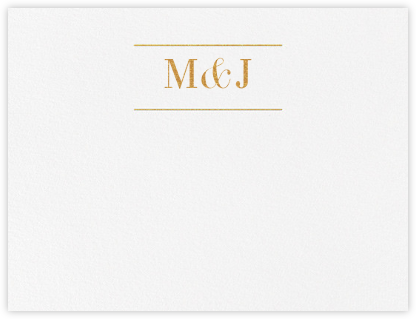Monogram (Stationery) - Gold - Vera Wang - Personalized Stationery
