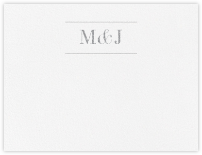 Monogram (Stationery) - Platinum - Vera Wang - Personalized Stationery
